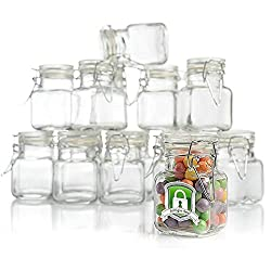 Air Tight Glass Jars with Hinged Lid