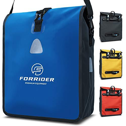 Forrider Fahrradtasche für Gepäckträger Wasserdicht Reflektierend I 22L Gepäckträgertasche   Sattel Tasche fürs Fahrrad zum Einkaufen, Touren