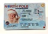 Caja oficial de Papá Noel con licencia de trineo, licencia de conducir o licencia de Papá Noel