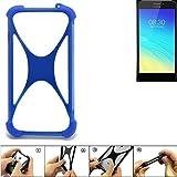 K-S-Trade® Handyhülle Für TP-LINK Neffos Y5S Silikon Schutz Hülle Cover Case Bumper Silikoncase TPU Softcase Schutzhülle Smartphone Stoßschutz, Blau (1x),