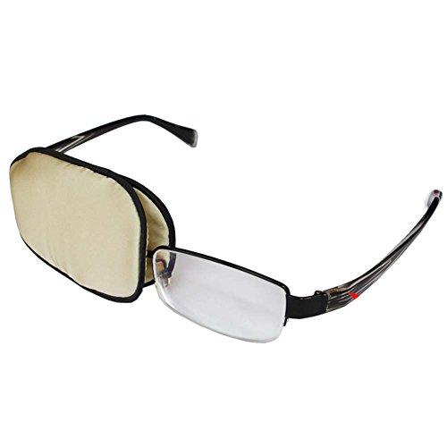 Fancy Pumpkin Hochwertige Seide Augenklappe für Lazy Eye Amblyopie Behandlung Augenmaske für Erwachsene, A