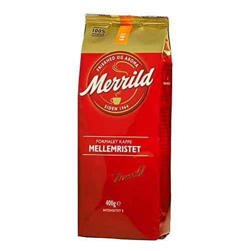 Merrild Mellemristet 103 - gemahlener Kaffee aus Dänemark - 100% Arabica - 400g Kaffeepulver