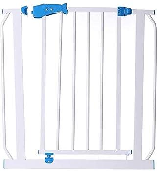 Garde-corps de jardin Porte Escaliers Clôture pression Protégeons Porte en métal Supports 76cm de haut La largeur peut être sélectionnée 65-202 porte bébé Pet porte avec les extensions disponibles