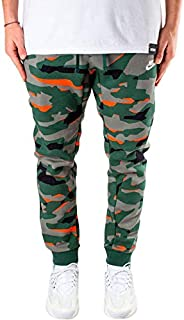 Nike Men's Sportswear Club Camo Bb Pants, White (Fir/fir/wht), Small (NKAJ2111-323)