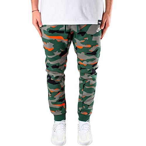 NIKE M NSW Club Camo JGGR BB Pantalones, Hombre, fir/fir/White
