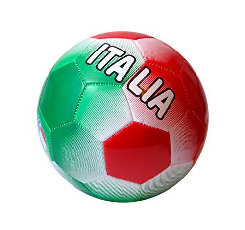 CCB Balón De Fútbol Italia Tamaño 5 Verde, Blanco, Rojo - Idea De Regalo