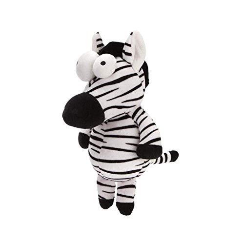 XIAN Plüschtiere Zebra Tierpuppen Nette weiche Ragdoll Kleiner und mittlerer Hund Gefüllte Puppen Interaktives Quietschendes Spielzeug 26cm hailing