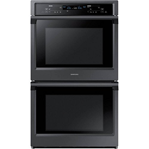 Samsung Appliance NV51K6650DG 30' 10.2 cu. ft. Total Capacity Electric Double Wall Oven with Top Broiler, in Black Stainless Steel