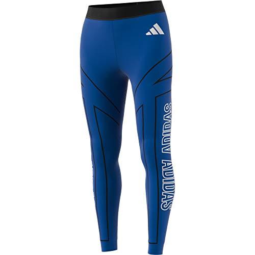 adidas W Graphic Tight Damen Leggings, Damen, Netze, FI6729, blau, XXS