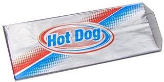 Brown Paper Goods Hot Dog Foil Bag Red/Blue, 4.5