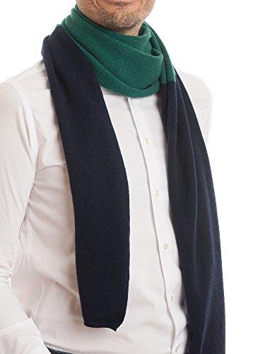 DALLE PIANE CASHMERE - Zweifarbiger Schal aus 100prozent Kaschmir - für Mann, Farbe: Blau, Einheitsgröße