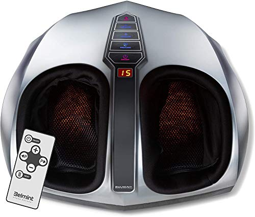 Belmint Shiatsu Foot Massager Machine with Heat Function, Multi Settings Deep-Kneading Shiatsu...