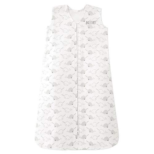 HALO 100% Cotton Sleepsack Wearable Blanket, TOG 0.5, Happy Narwhals, Medium