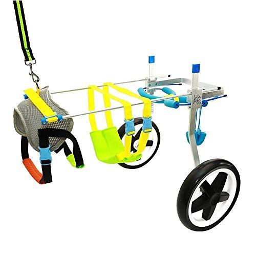 Qbylyf Onuj Hund Rollstuhl Rehabilitation Hund Scooter/Hind Gliedmaßen Behinderte Rollstuhl/Tier Reha-Training Auto Pet Kinderwagen Und Rollstuhl Haustier ijikf (Size : XS-WL)