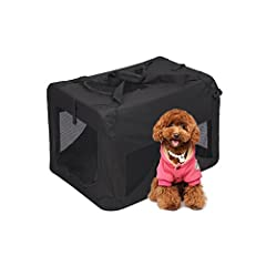 The Crate Is Made With Oxford 600D Fabric Combined with Sturdy Metal Frame. Soft Mesh Kennel Is Easily Portable And Perfect For Indoor Or Outdoor Use For Your Pets (Dog, Cat, Puppy) Heavy Duty/ Durable / U Shaped Top Zipper / Water Resistant / Comfor...