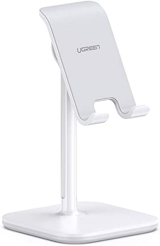 popular UGREEN outlet online sale Cell Phone Stand Desk Holder Adjustable Compatible with iPhone 11 Pro Max SE outlet online sale XS X XR 8 7 6 Plus 6S, Samsung Galaxy S20 Ultra S10 S9 S8 Note 10 9 8, LG G8 ThinQ, Android Phone Up to 8 Inch online