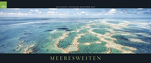 Kalender 2017 Fotokalender Geo Saison Panorama Meereswelten Wandkalender 137 x 60 cm Querformat Posterkalender
