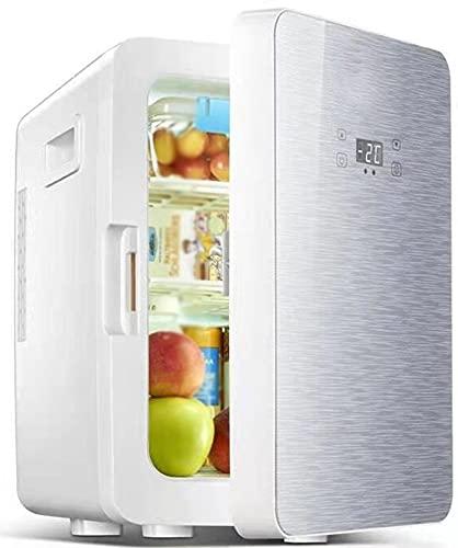 Mini Nevera Refrigerador De 20 litros para Dormitorio Sistema Termoeléctrico Alimentado por CA/CC Refrigerador Y Calentador para Automóviles, Oficinas Y Dormitorios