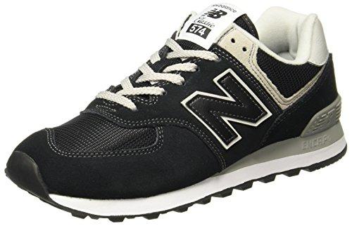 New Balance Women's 574 V2 Evergreen Sneaker, Black/White, 8 W US
