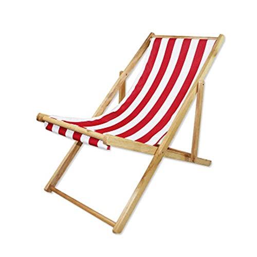 ADSE Silla de Playa de Madera Lovehouse, Silla Plegable de Altura Ajustable,...