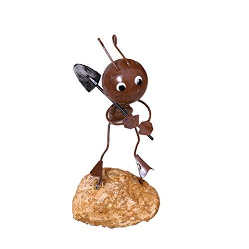 Yuanqu Escultura de Metal Decoración de Hormiga de Hierro Retro Decoración de Arte de Metal único Adornos Regalos creativos para niños, Modelo de Hormiga múltiple