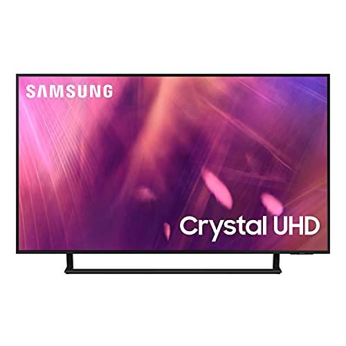 Samsung UE50AU9079UXZT Smart TV 50' Crystal UHD 4K, Processore Crystal 4K, HDR, OTS Lite, Multiview, Wi-Fi, AirSlim design, Nero, 2021, Alexa e Google Assistant integrati