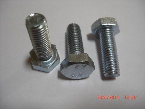 10 Stück Sechskant Schlüsselschraube, Maschinenschraube, M10 x 30mm, DIN 933, Festigkeitsklasse 8.8