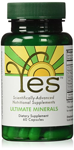YES Ultimate Minerals Supplement 60ct | Vegan | for Mineral Deficiency Support: Iron, Magnesium, Zinc, Selenium, Copper, Manganese, Chromium, Boron | Ideal for The Peskin Protocol
