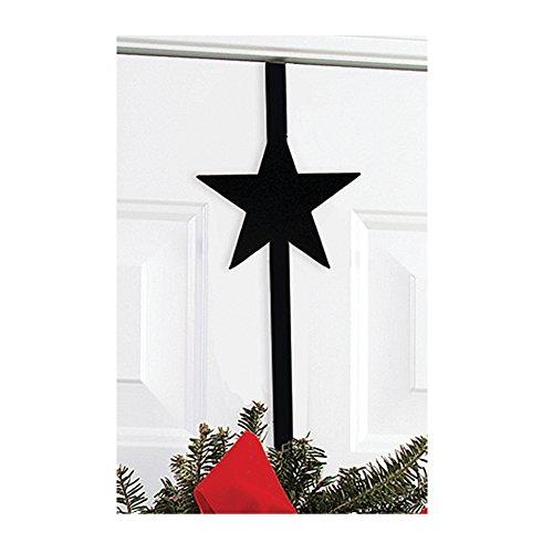 Village Fer forgé étoile Couronne Cintre, Noir, 33 cm