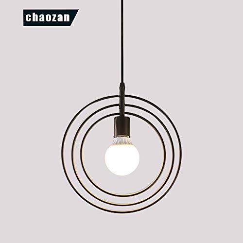 Chaozan Pendel-Leuchte Decken-Leuchte aus Metall E27 Hänge-Leuchte Vintage Industrieleuchte Wohnzimmerlampe Modern Wohnzimmer mit Kabel Vintagelampe für Wohnzimmer/Küche/Büro