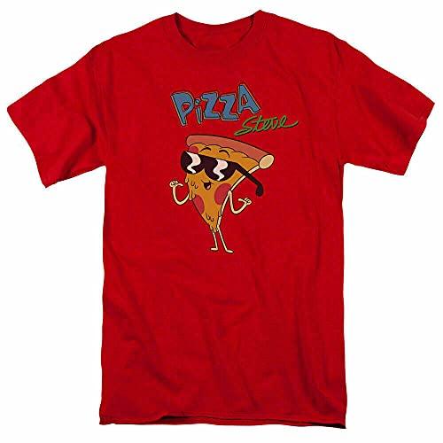 YHNN Uncle Grandpa Pizza Steve T Shirt Mens Cartoon Merchandise Red Red M