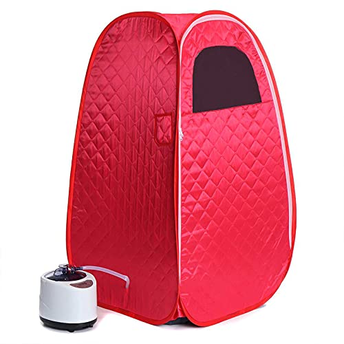 PINGJIA Household Foldable Sauna Tent, Foldable 2.6L SPA Steam Sauna Machine for Weight Loss Detox Relaxation At Home, with Remote Control and 15 Files Temperature Adjustment