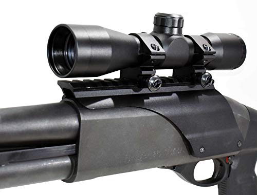 New Trinity 4x32 Scope Sight with Base Mount for Remington 870 12 Gauge Pump, Picatinny Weaver Singl...