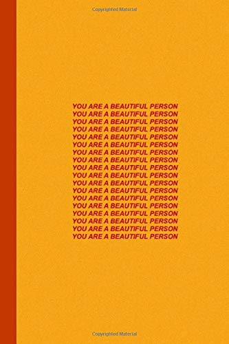 You Are A Beautiful Person: Aesthetic Notebook Yellow Therapy Notes Log Calming Psychology Meditation Dream Journal Diary Van Gogh Tumblr Composition Notebook 100 sheets, 200 pages