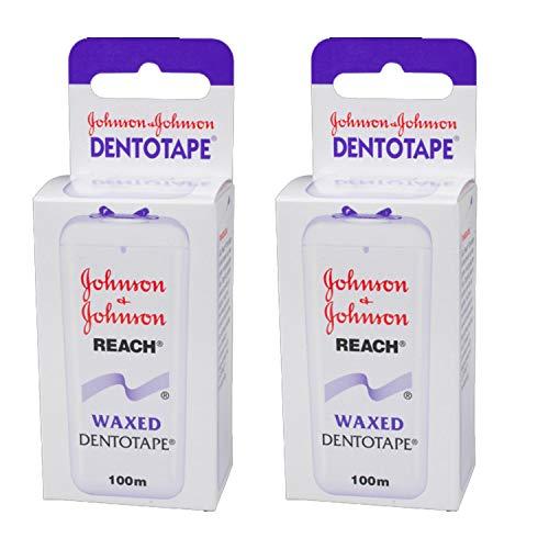 Johnson & Johnson Reach Dentotape gewachst 100m, 2er Pack (2x 100m)