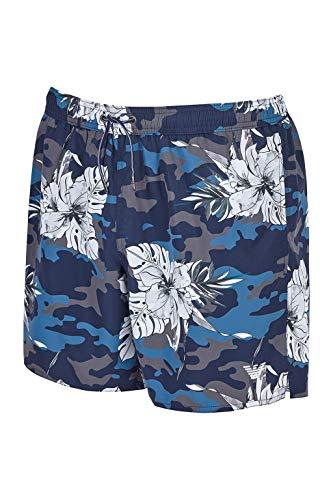 Emporio Armani Swimwear Herren Boxer Beachwear Tropical Jungle Badehose, Mehrfarbig (All-Over Camou/Ibisc 70820), XX-Large (Herstellergröße: 56)