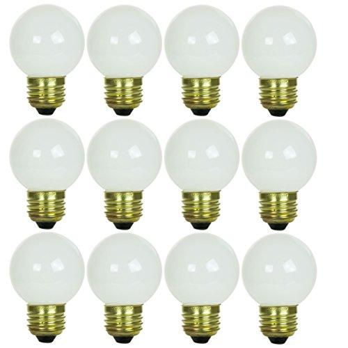 Sunlite 60G16/WH/MED/12PK 60W Incandescent G16 Globe Light Bulb Medium (E26) Base (12 Pack), White