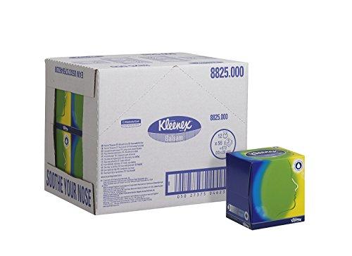 Kleenex Kosmetiktücher 8825 – Kleenex Box - 12x56 (672 Papiertaschentücher), 3-lagig