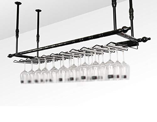 Weinregal Kreativität hängendes Weinregal Continental Inverted Wine Rack Einfaches Haushaltsflaschenregal Länge 60/80/100/120 × Breite 30 cm Multifunktion (Farbe: Nr. 1 Größe: 60 * 30 cm)