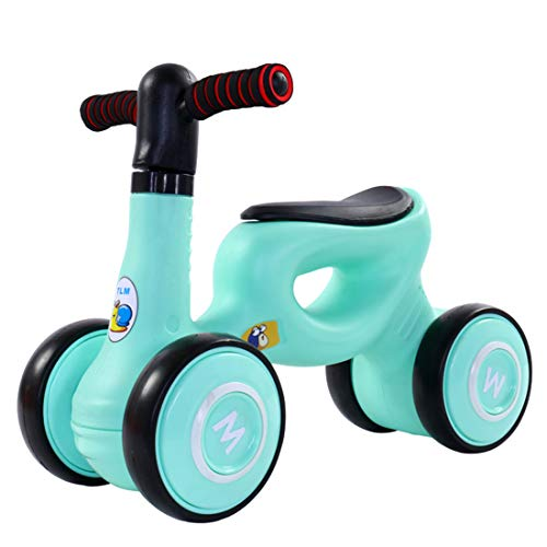 CCDYLQ Mini Bike Bicycle, Baby Balance Bikes, Children Walker Toys Rides for 12-24 Months No Pedal Infant 4 Wheels Toddler Bike,Best First Birthday Gift Indoor Outdoor