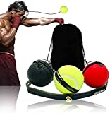 Sayopin Boxen Training Ball Reflex 3 Bälle Fightball Speed Fitness Punch Box Equipment Boxing Fight Ball Reflex mit Aufbewahrungsbeutel zur Verbesserung der Geschwindigkeitsreaktion & Koordination