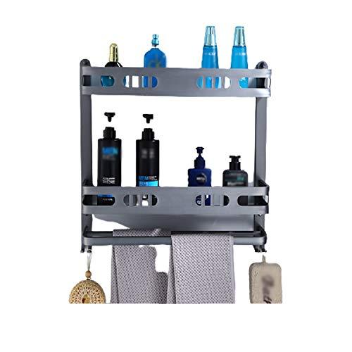 ZYLBL Estante de baño de aluminio, organizador multifunción para sala de estar, oficina, dormitorio, baño, cocina, ahorra espacio (B)