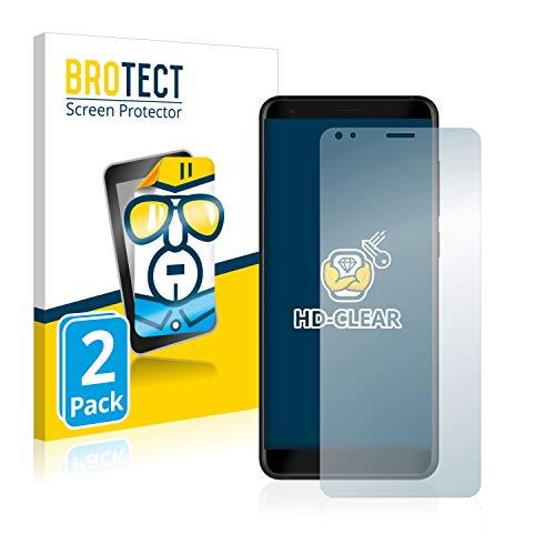 BROTECT Schutzfolie kompatibel mit ZTE Blade V9 (2 Stück) klare Bildschirmschutz-Folie