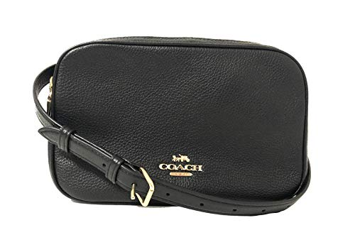 """Made of Pebbled Leather with Gold Tone Hardware Measurements: L: 10""""(L) x 7"""" (H) x 4""""(W) 2 Main Compartment with Double Zip Top Closure. Fabric Lining Removable and Adjustable Long Strap for Crossbody Use."""