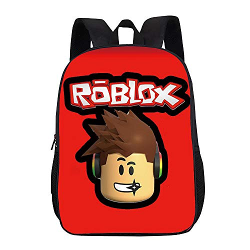 Roblox Colourful Cute Printing Children Primary School Backpacks Children Bookbag for Boys and Girls Kids (Color : Black03, Size : 31 X 16 X 44cm)
