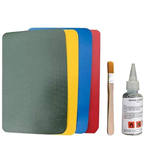 CaCaCook Kit de Pegamento de reparación de punción de PVC, Kit de Pegamento Inflable para reparación de Barcos y Barcos de PVC, Parches de Reparación de Alta Resistencia Juego de Pegamento Kit