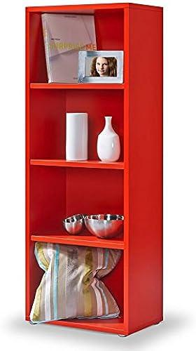 Regal rot, Click System  Keine Schrauben und Dübel, Bücherregal rot, 3 EB