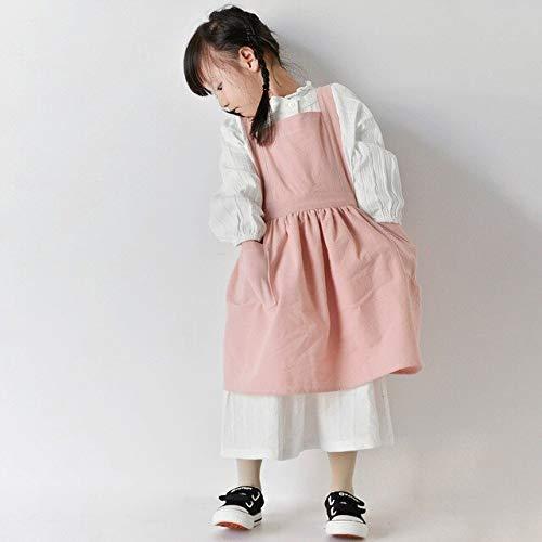 QZXCD Schort Gestreept Volwassenen Kinderen Ouder-kind Schort Keuken Thuis Schoonmaken Schilderij Beschermende Kleding Japanse Koffie Shop Overalls