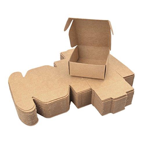 Freahap 50 Stü. Verpackung Karton Box für Handgemachte Seife Kleine Geschenke S