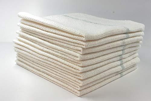 Scheuertuch 10 x Scheuerlappen weiß Bodentuch Putzlappen Aufnehmer Bodenwischtuch Wischlappen Baumwolle Viskose und Syntetic Fasern 50x50